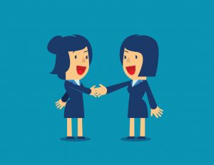 How To Ask For What You Want | Women shaking hands on a deal | Improving confidence